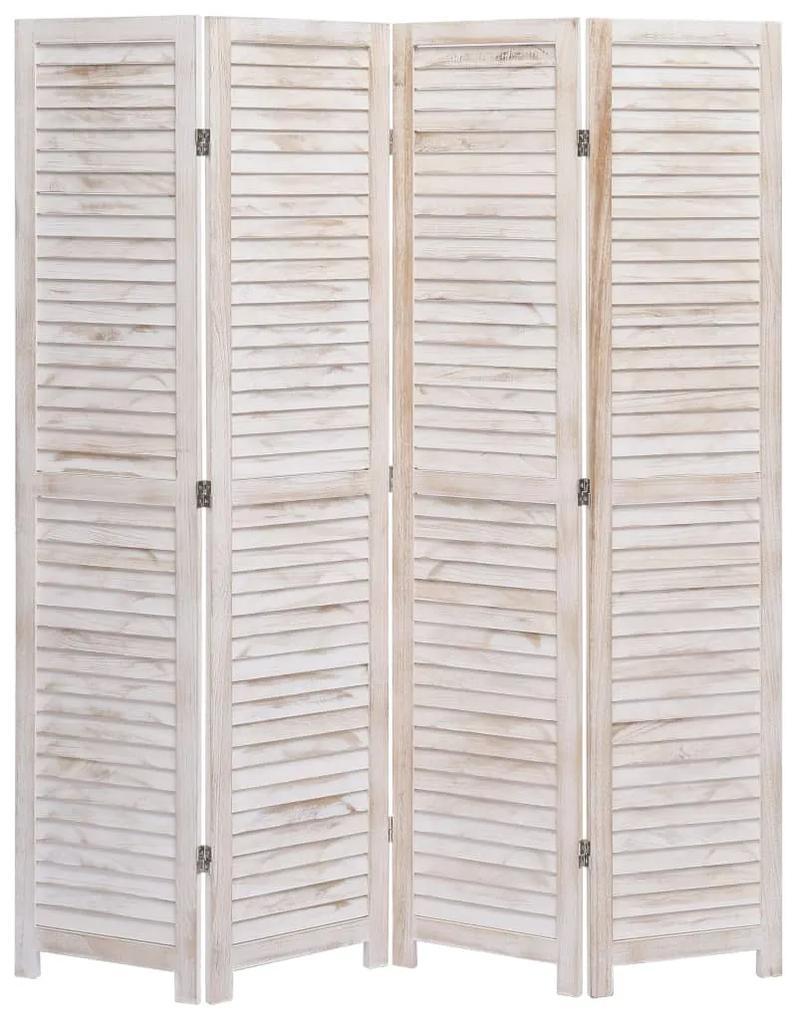 284208 vidaXL Paravan de cameră cu 4 panouri, 140 x165 cm, lemn
