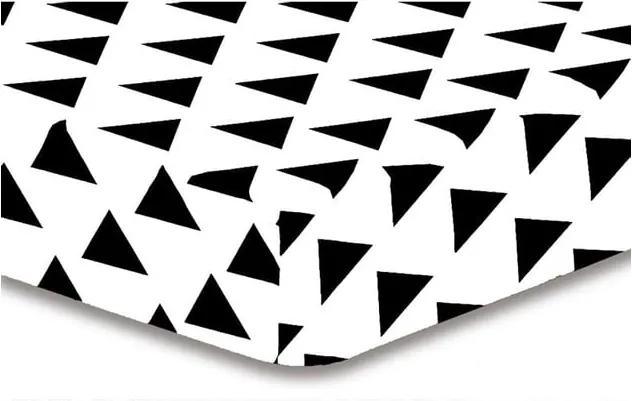 Cearșaf din microfibră DecoKing Hypnosis Triangles Elena, 160 x 200 cm