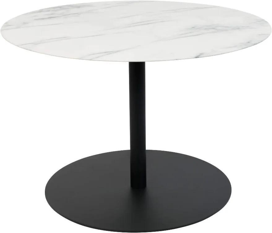 Masuta de cafea rotunda din metal Snow Marble Round M (60cm)