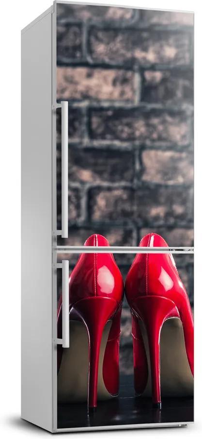 Autocolant pe frigider Tocuri red