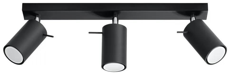 Lampă spot RING 3 3xGU10/40W/230V negru