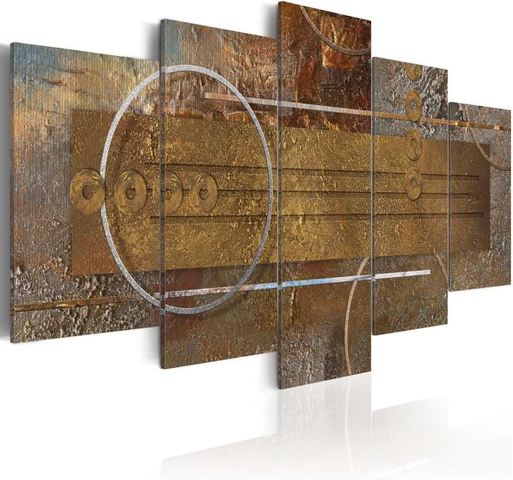 Bimago Tablou - Golden Depths 100x50 cm
