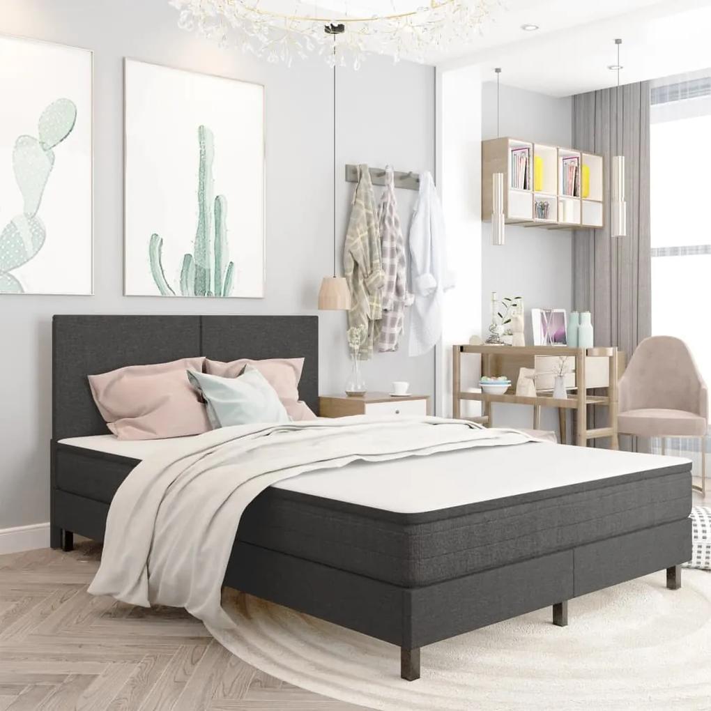 287456 vidaXL Cadru de pat, gri, 140 x 200 cm, material textil