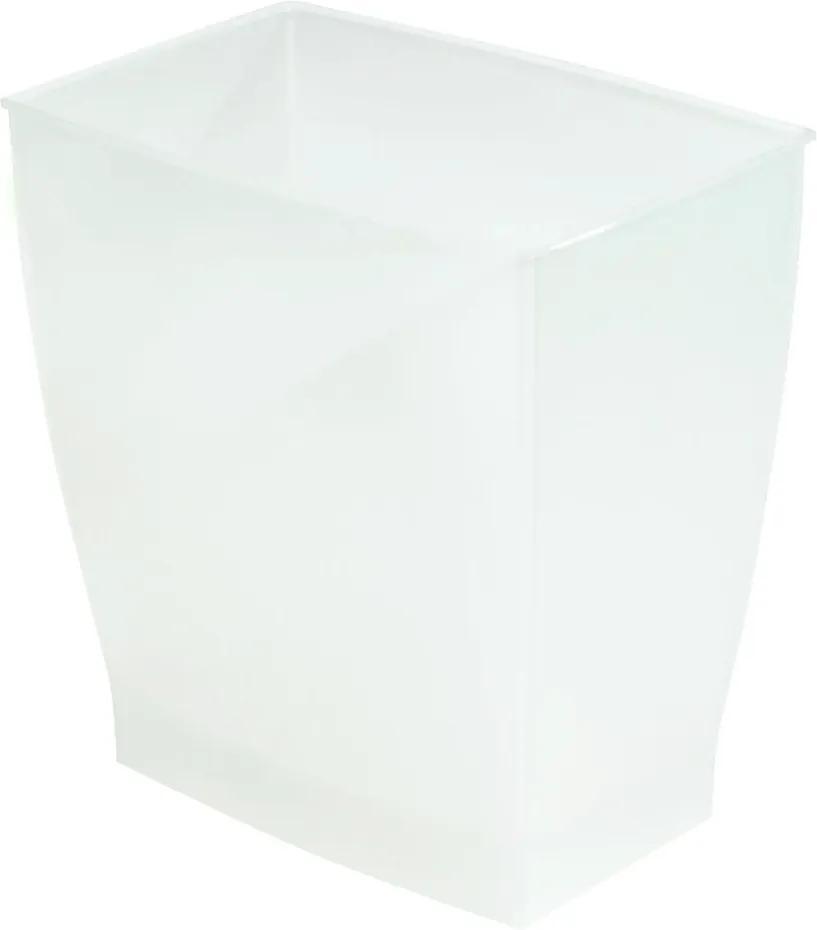 Coș de gunoi iDesign Mono, 15,6 l, alb