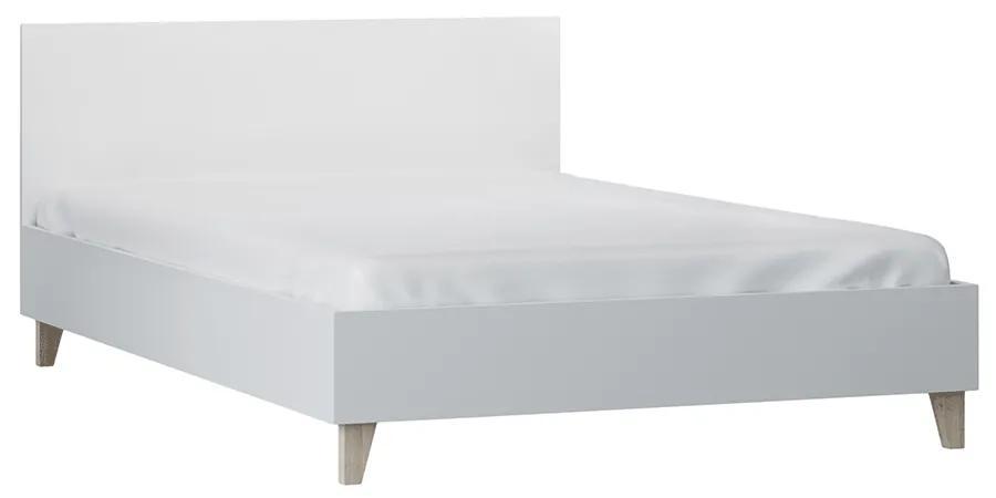 Pat 90x200, alb, margini ABS, FIERA