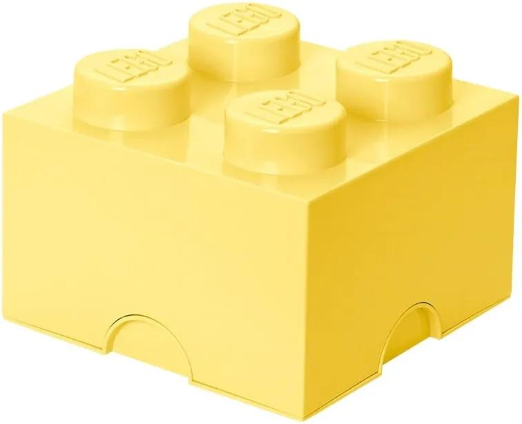 Cutie depozitare LEGO®, galben deschis