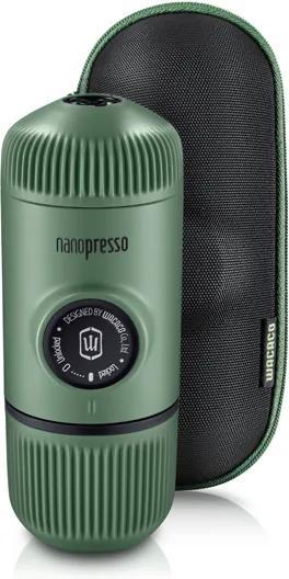 Aparat de cafea portabil Wacaco Nanopresso (verde) + carcasă solidă