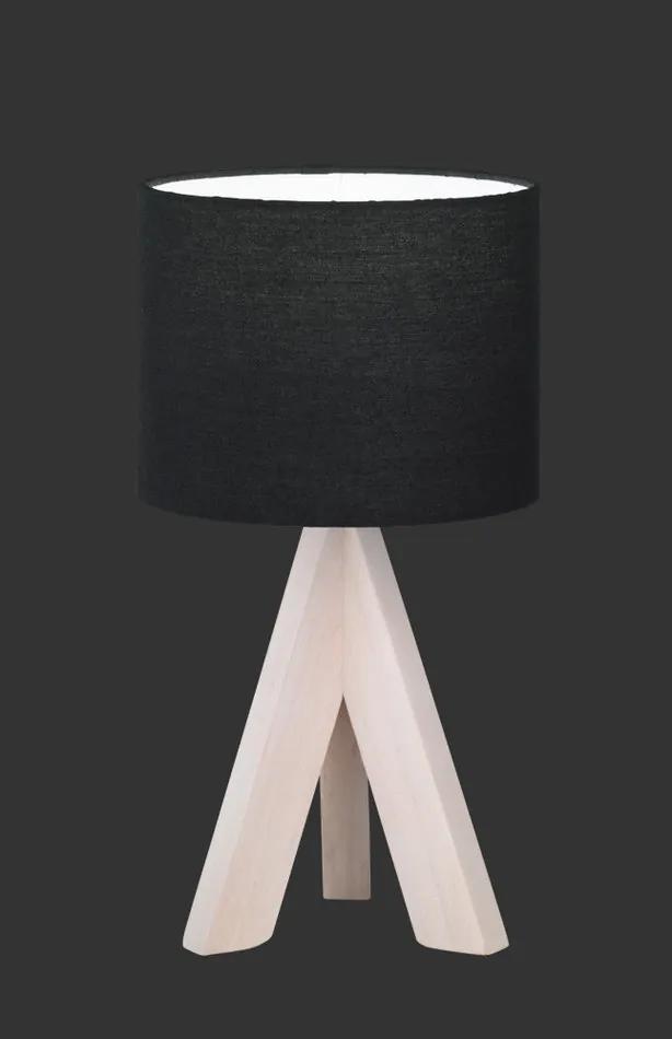 Trio GING R50741002 Lampa de masa de noapte lemn negru excl. 1 x E14, max. 40W H:31cm, D:17cm,