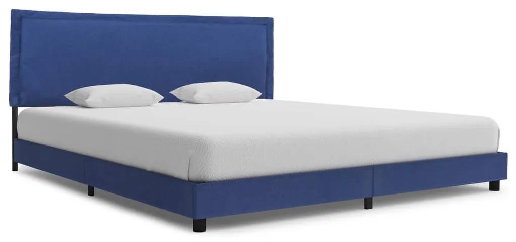 280995 vidaXL Cadru de pat, albastru, 180 x 200 cm, material textil
