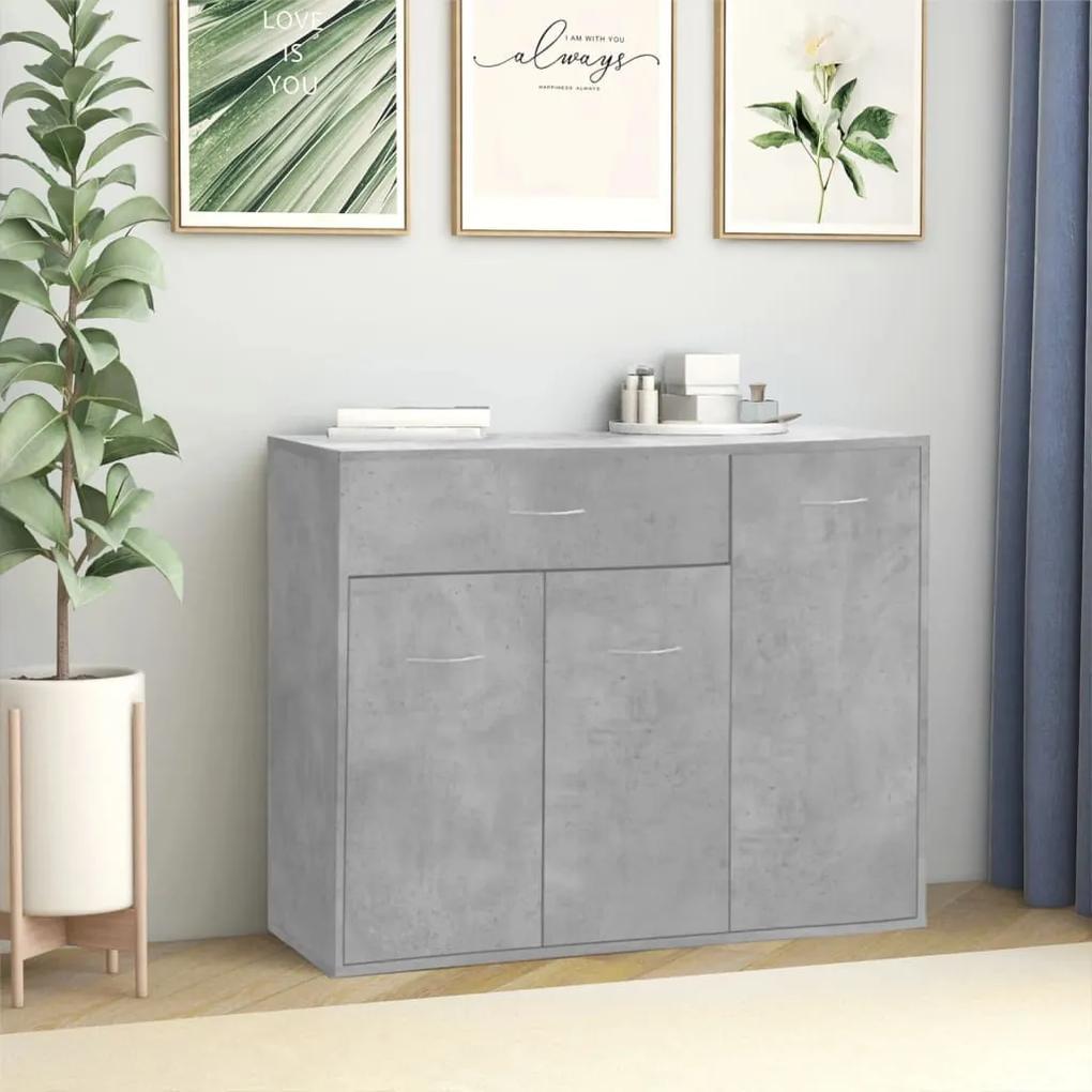 800679 vidaXL Servantă, gri beton, 88 x 30 x 70 cm, PAL