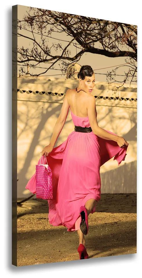 Print pe pânză Kobieta în roz