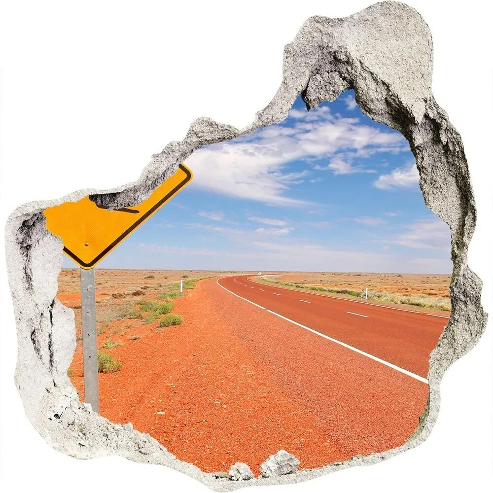 Autocolant un zid spart cu priveliște Drumul în Australia