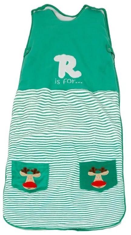 The Dream Bag - Sac de dormit Green Reindeer 0-6 luni 2.5 Tog