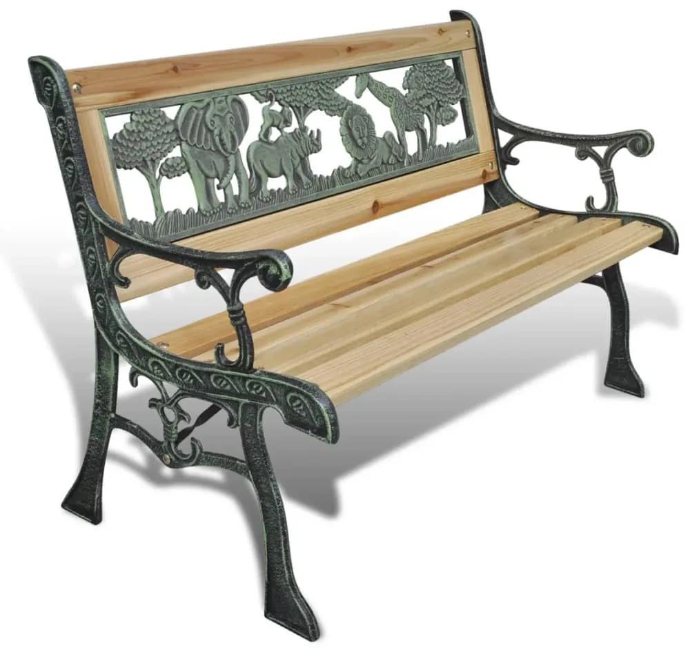 41013 vidaXL Bancă de grădină pentru copii, 84 cm, lemn