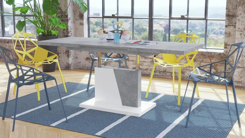 GRAND NOIR beton / alb, masuta de cafea