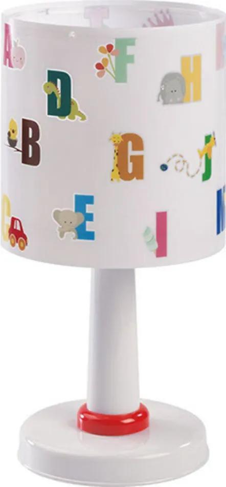 Dalber 72271 Lampă de masă pentru copii ABC alb 1 x E14 max. 40W