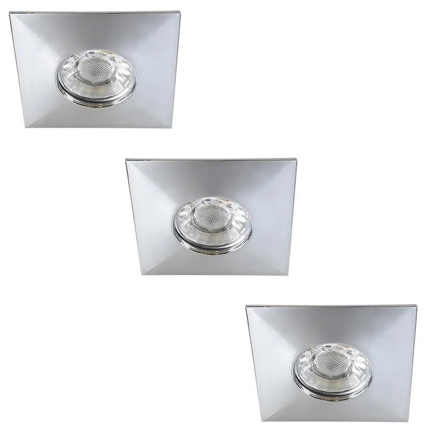 Rabalux 1079 - SET 3xLED Lampă încastrată baie RANDY 3xLED/4W/230V