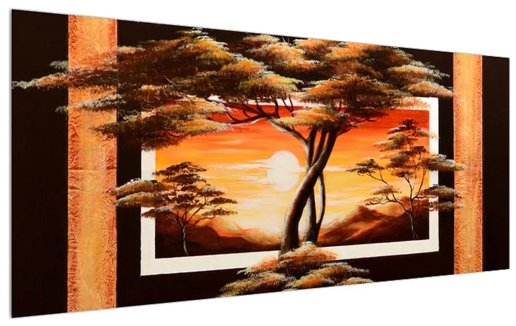 Tablou cu copaci în savana (K011501K12050)