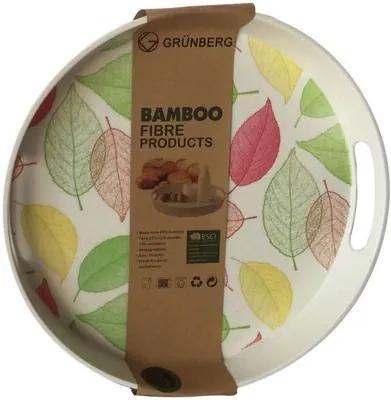 Tava servire Grunberg, Bambus, 30 cm, Frunze BM015-FRUNZE