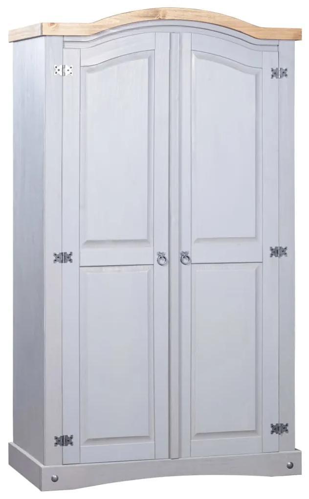 282619 vidaXL Șifonier, gri, lemn de pin mexican, 2 uși, gama Corona