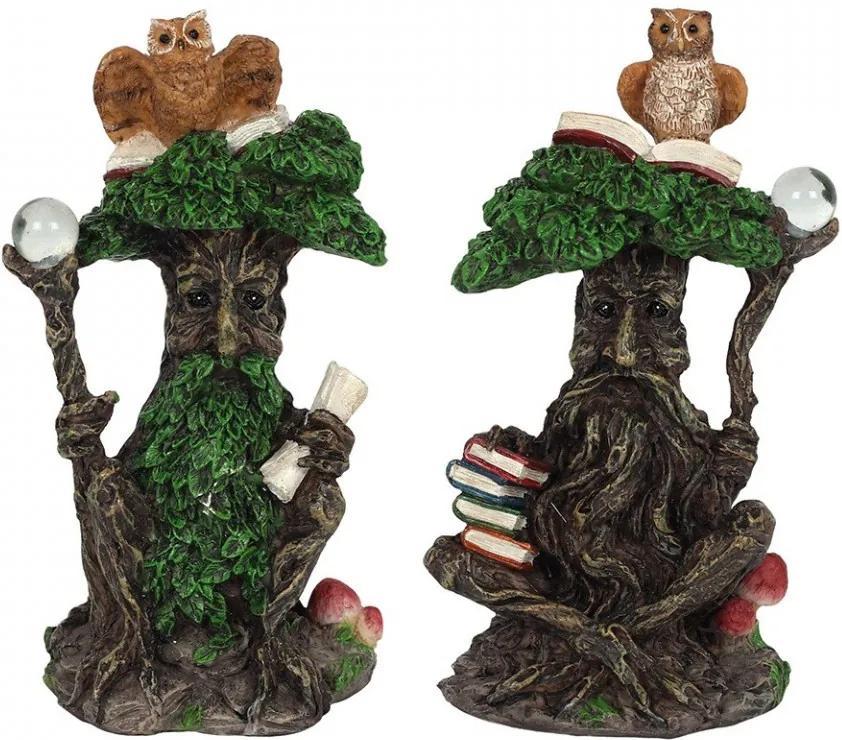 Statueta copac magic cu bufnita Green Man 12 cm