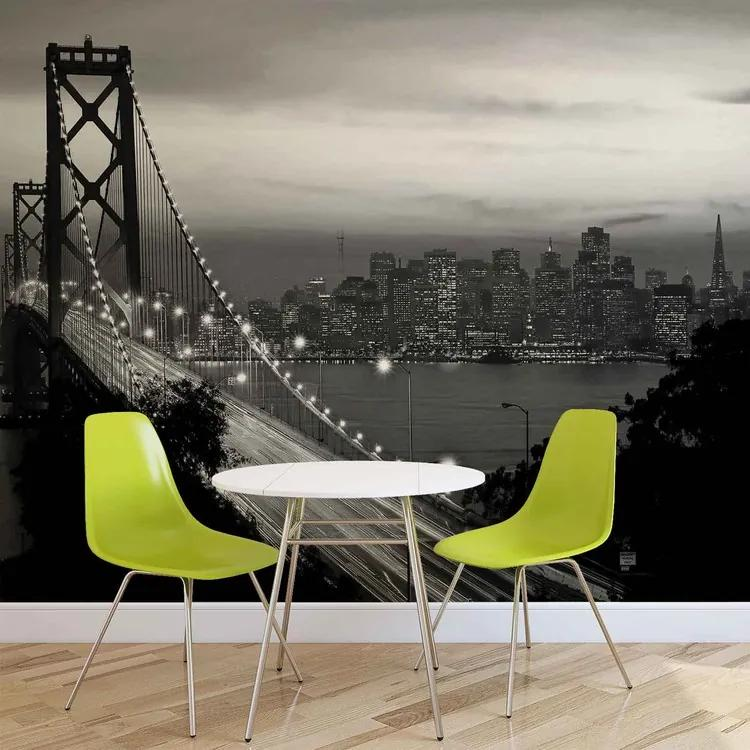 City Skyline Golden Gate Bridge Fototapet, (416 x 254 cm)
