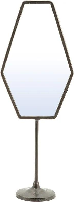 Oglinda cu picior cu rama din fier Vanity three, 16,5 x 9 x 45 cm