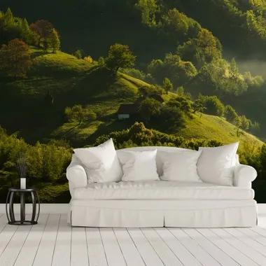 Tapet - Pe dealuri PVC Autocolant Wall Art, 130x90 cm