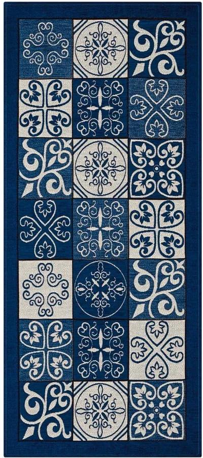 Traversă Floorita Maiolica, 55 x 140 cm, albastru
