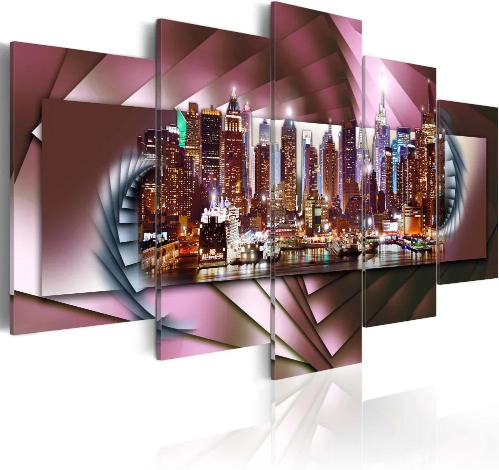 Tablou - New York a fraktál 100x50 cm
