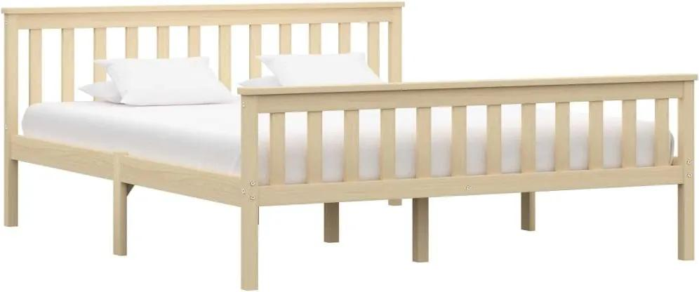 Cadru de pat, lemn deschis, 180 x 200 cm, lemn masiv de pin