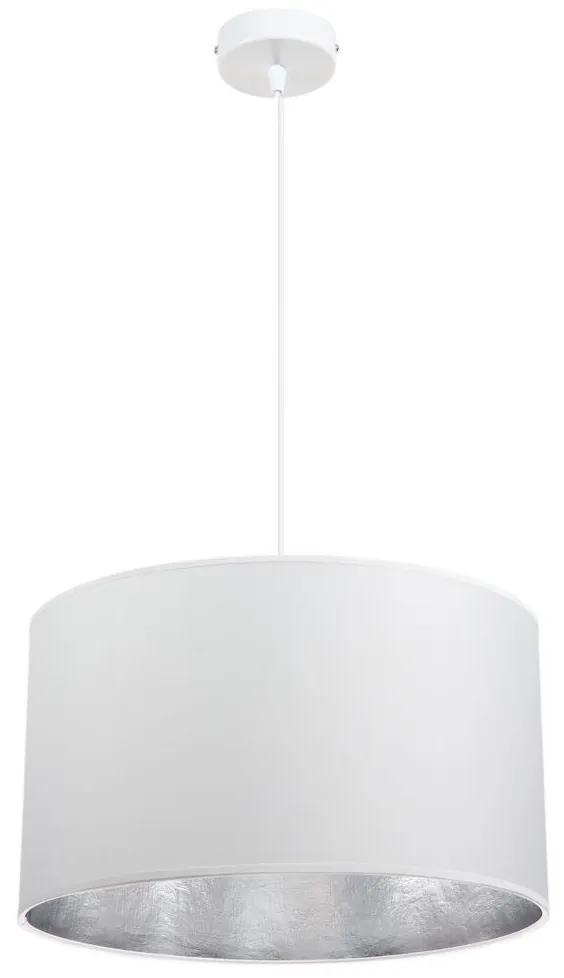 Lustră pe cablu GLEAM 1xE27/60W/230V alb/argintiu
