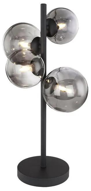 Veioza Jeanie, metal, neagra, 48 x 19 x 24 cm, 3w