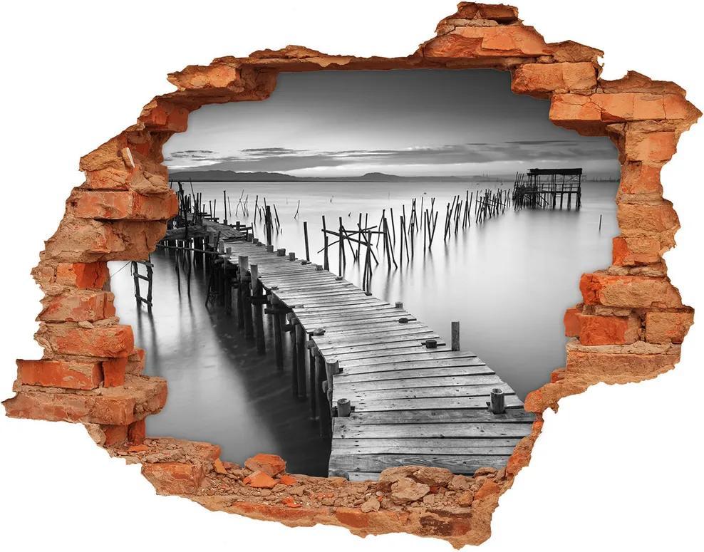 Fototapet 3D gaură în perete Debarcader din lemn