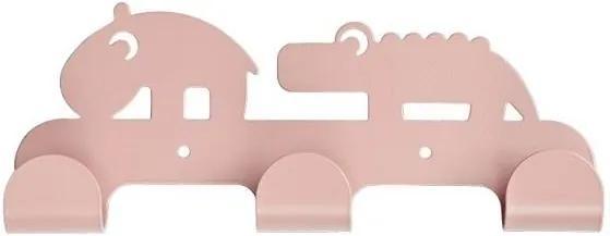 Cuier de perete triplu  - Roz