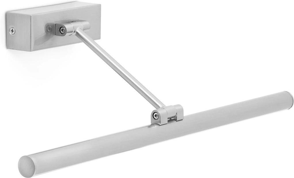 MAGRITTE 45CM LED 8W - Aplică cilidrică nichel cu efect mat din oțel