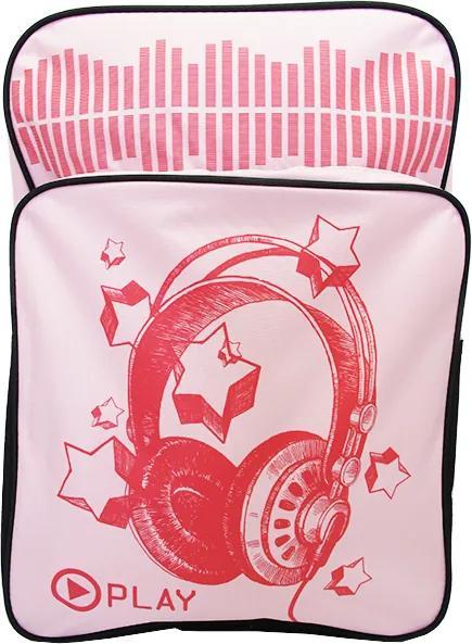 Ghiozdan gimnaziu Pigna Sound Wave roz MCRS1820-6