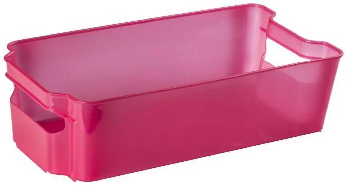 Cutie depozitare tip sertar pentru frigider, rosu transparent, Nati