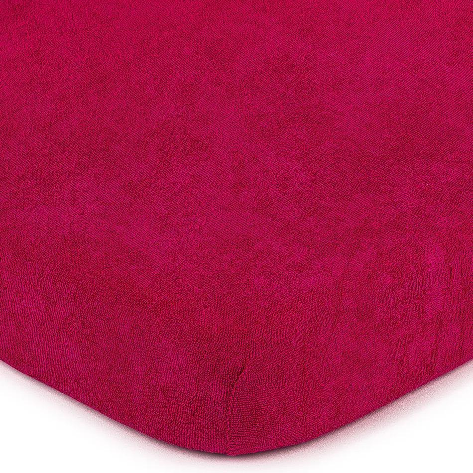 Cearșaf de pat 4Home frotir, roz, 160 x 200 cm, 160 x 200 cm