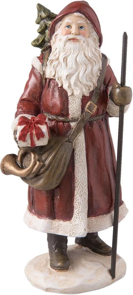 Figurina Mos Craciun Brugundy Clayre