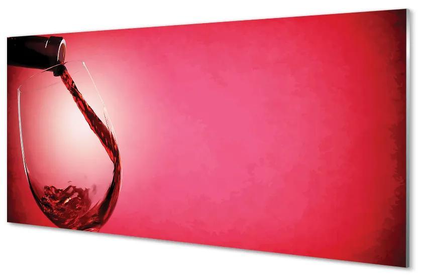 Tablouri acrilice Tablouri acrilice sticlă de fundal roșu din partea stângă