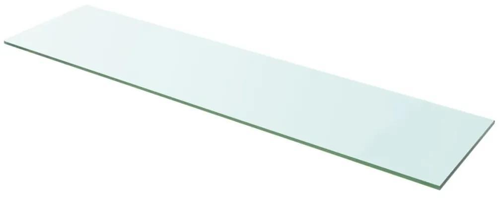 243845 vidaXL Raft din sticlă transparentă, 100 x 25 cm
