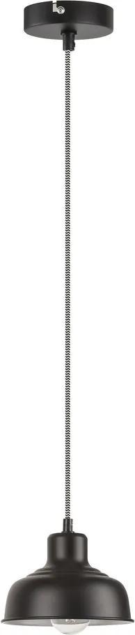 Rábalux Owen 2789 Pendul cu 1 braț negru mat negru E27 1X MAX 60W Ø170 mm