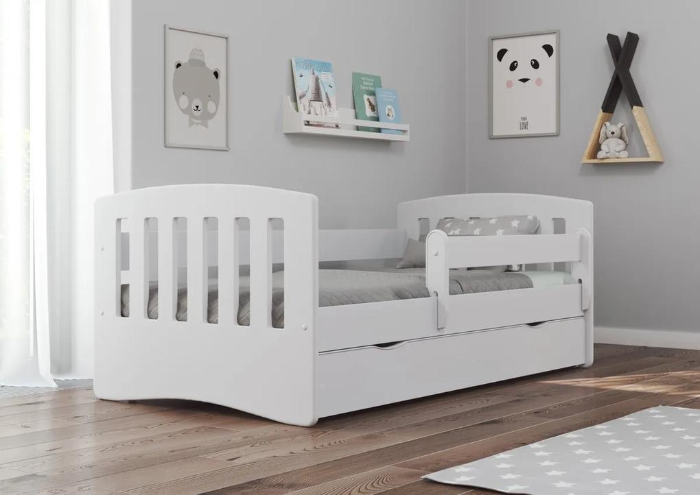 Pat Classic pentru copii - alb 180x80 cm pat + spațiu de depozitare