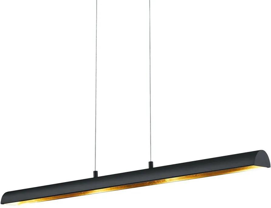 Lustra tip pendul LED Ramiro metal, negru, dreptunghiular, 230 V, 4 W