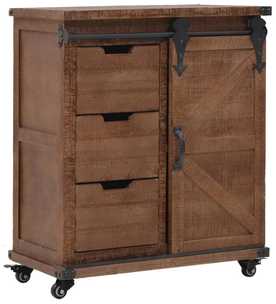 246120 vidaXL Dulap de depozitare, lemn masiv de brad 64 x 33,5 x 75 cm, maro