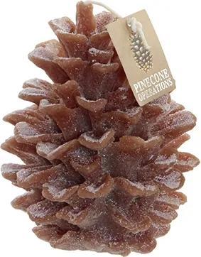 Lumanare Pinecone din ceara maro 13 cm
