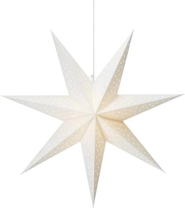 Decorațiune luminoasă suspendată Markslöjd Clara, ø 75 cm, alb