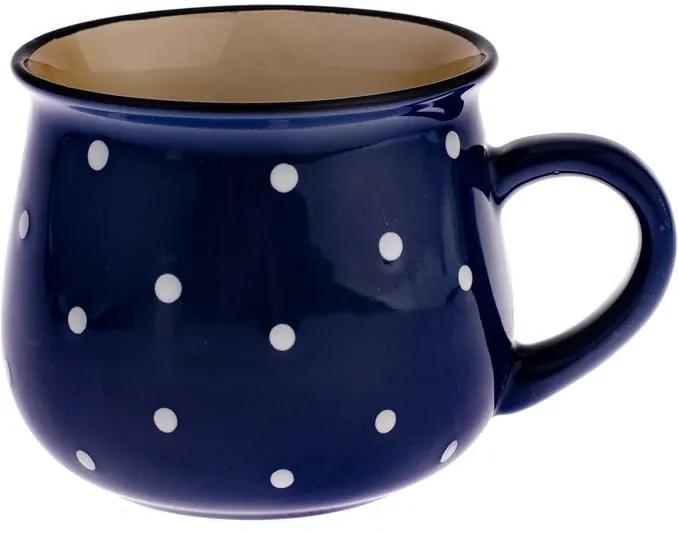 Cană din ceramică cu buline Dakls Premio, albastru, 770 ml