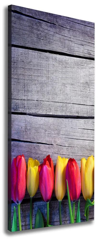 Pictură pe pânză Lalele colorate